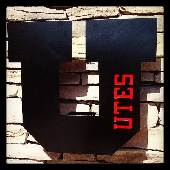 Utah Utes Handmade Two Tone Metal Decor. by GSLMetalworks on Etsy