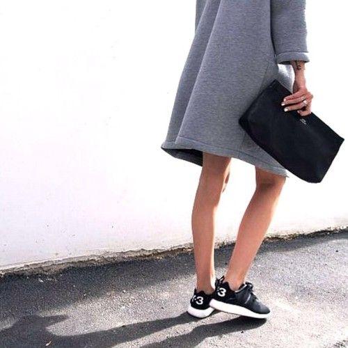 MINIMAL + CLASSIC: Y-3 all day. Grey Coat. Clutch.