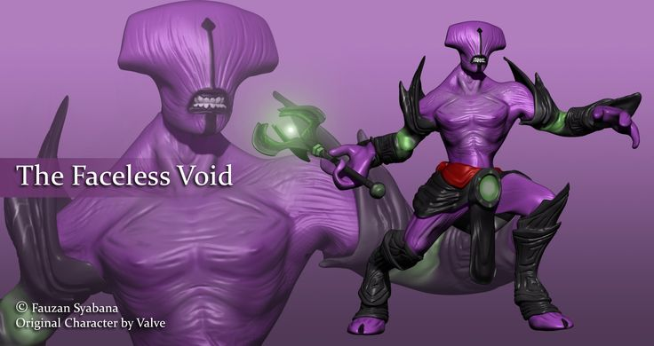 Faceless Void, Fauzan Syabana Kirana on ArtStation at https://www.artstation.com/artwork/faceless-void-f765f227-c7e2-4771-acd8-d7f8a61ae154