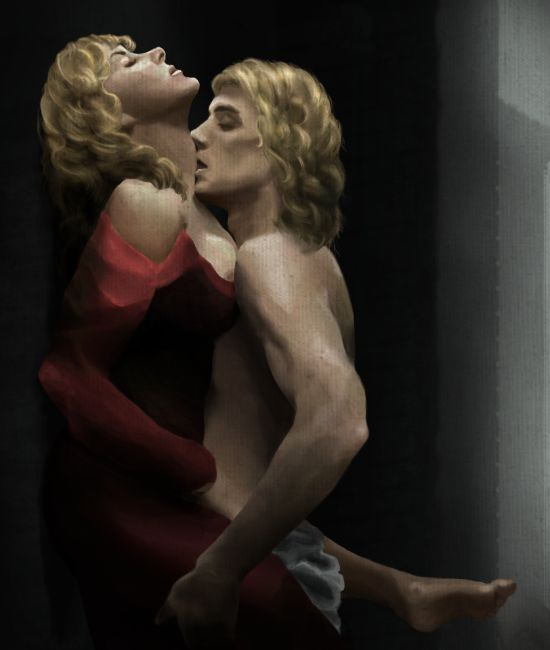 """onionjulius: """" Before He Sees (Cersei/Jaime, for asoiaf_exchange summer 2009) It was supposed to depict Jaime and Cersei visiting Greenstone, Robert's mother's family's home, and just generally being..."""