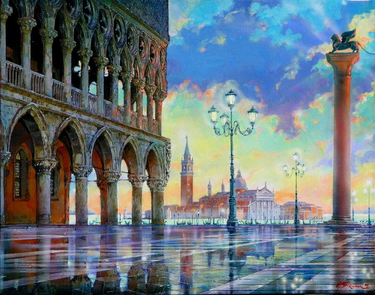 Last Rays of Sun over Piazza San Marco by Vladimir Stroozer