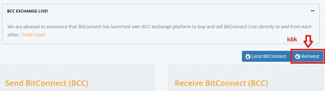 SUPPORT BISNIS BITCONNECT COIN INDONESIA: PANDUAN REINVEST BCC