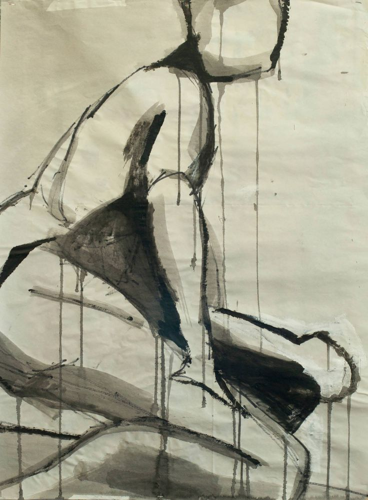 Ink Gesture Drawing | From a unique collection of figurative drawings and watercolors at https://www.1stdibs.com/art/drawings-watercolor-paintings/figurative-drawings-watercolors/