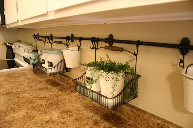 """""""Using Rails and Baskets to Get Rid of Counter Clutter 