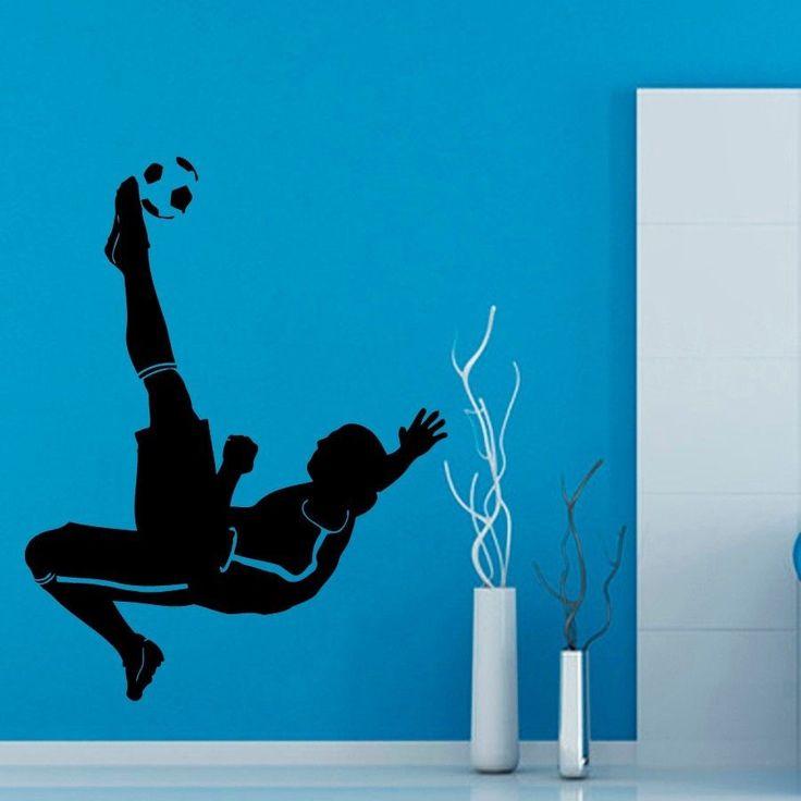 Wall Decals Sport Football Soccer Man Gym Vinyl Sticker Murals Wall Decor KG88