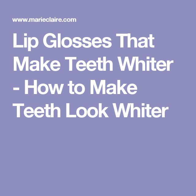 how to make teeth look whiter with lipstick