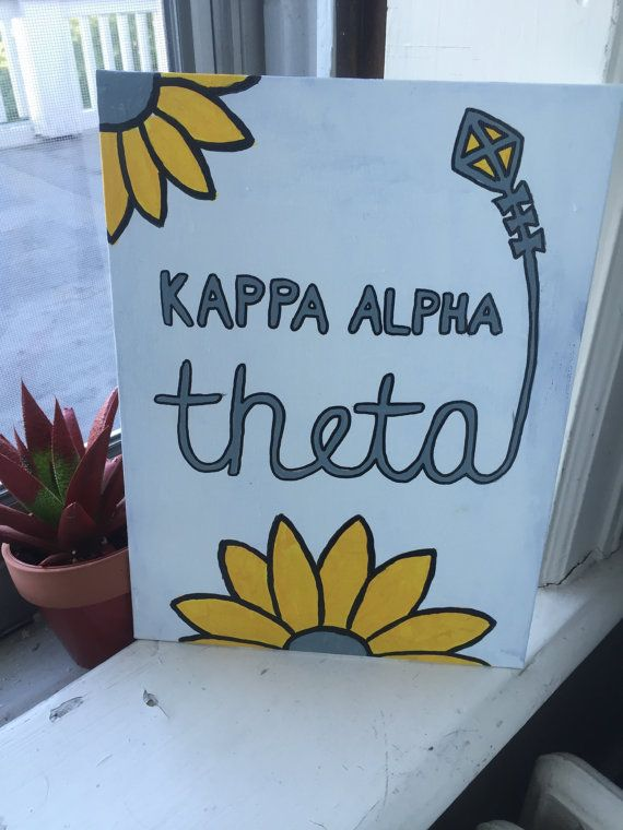 Kappa Alpha Theta Canvas by dritter912 on Etsy