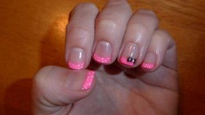Disney manicure - Minnie Mouse themed