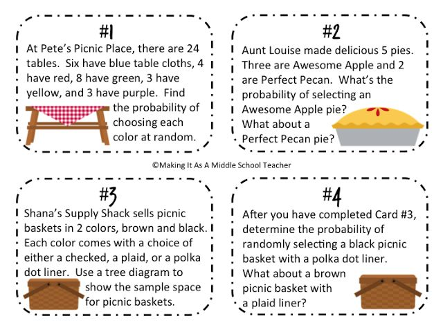 177 best probabilit images on pinterest math activities math math game monday picnic probability ccuart Image collections