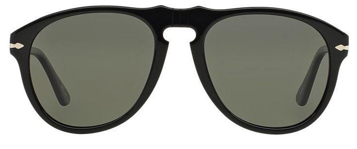 26 Sunglasses for Men and Women in Spring 2016 - Best Aviator & Wayfarer Designer Sunglasses. Black/Green. Persol.