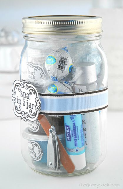 Spa In A Jar ~ DIY Valentine's Day Gift In A Jar | The Gunny Sack