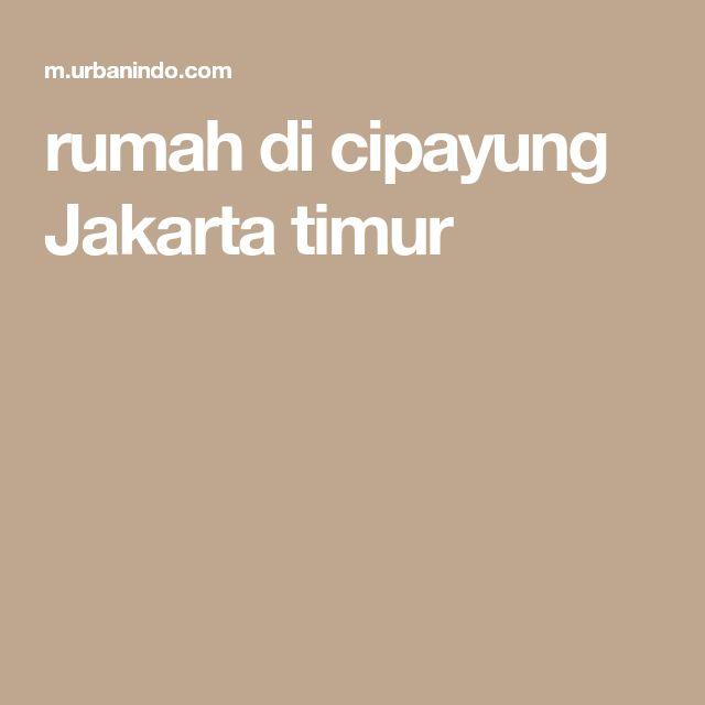 rumah di cipayung Jakarta timur
