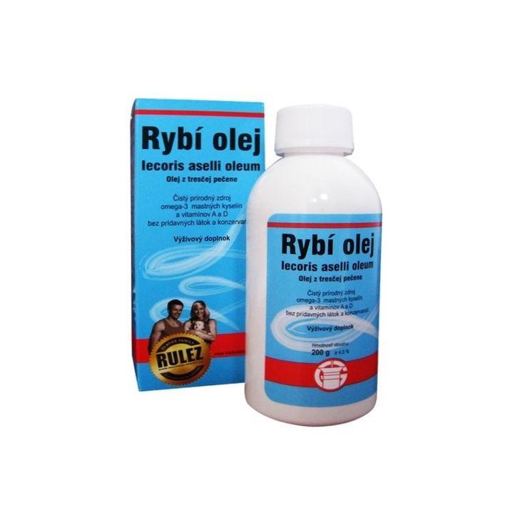 Rybí olej, Olej z tresčej pečene - Prírodný olej z tresčej pečene s obsahom omega-3 mastných kyselín a vitamínov A a D v prirodzenej forme. Neobsahuje žiadne prídavné látky ani konzervanty.