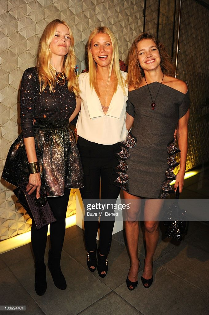 Claudia Schiffer, Gwyneth Paltrow and Natalia Vodianova attend Fashion's Night Out At Stella McCartney on September 8, 2010 in London, England.