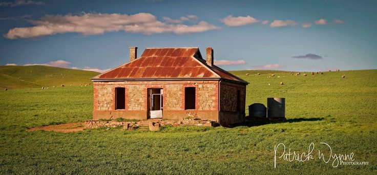 Abandoned farm house between Burra and Hallet. This house was featured on an album and in a music video by the group Midnight Oil.