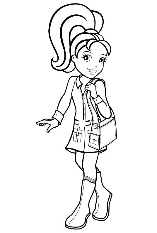 Polly Pocket Printables Polly Pocket Coloring Pages To Print For