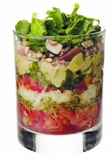... Layered salad on Pinterest | Pizza salad, Layered salads and Waldorf