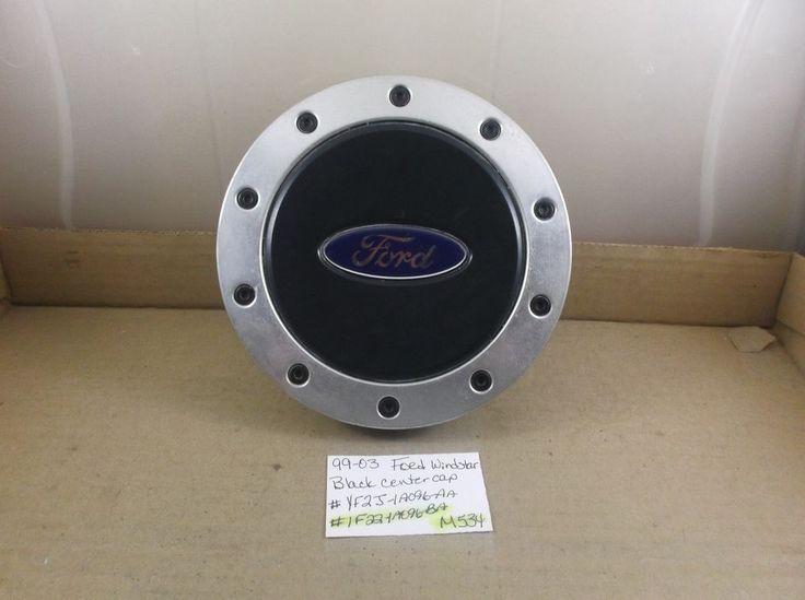 99-03 Ford Windstar Alloy Wheel Center Caps 1F2J-1A096-BA black hubcap  M534 #Ford
