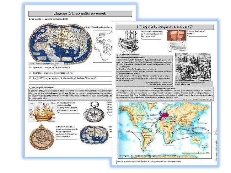 Les grandes découvertes - pdf (mais aussi un diaporama et un fichier de questions en rapport)