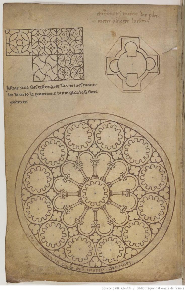 Villard de Honnecourt, Album de dessins et croquis.                                                                                                                                                                                 Plus