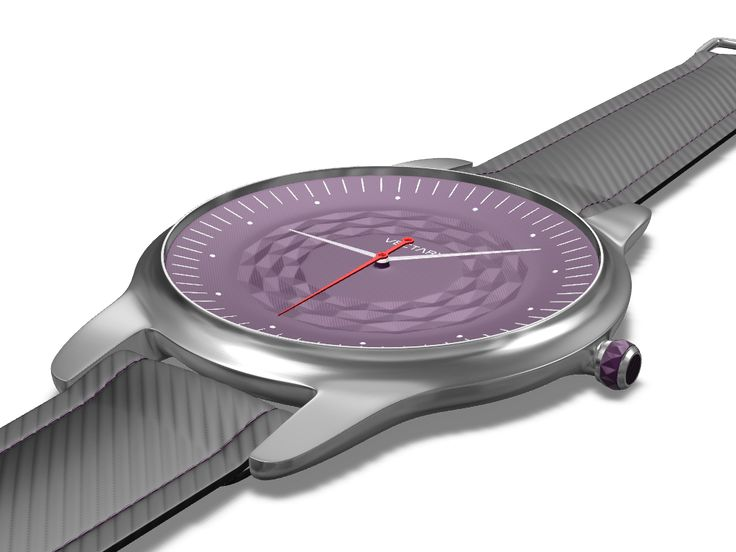 Watch design - a 3D model created with VECTARY - the free online 3D modeling tool #3Dprinting #productdesign