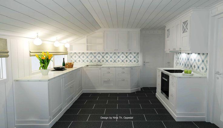 Sigdal kjøkken modell herregaard. designet av nina th. oppedal ...