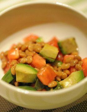 アボカド&トマト 納豆
