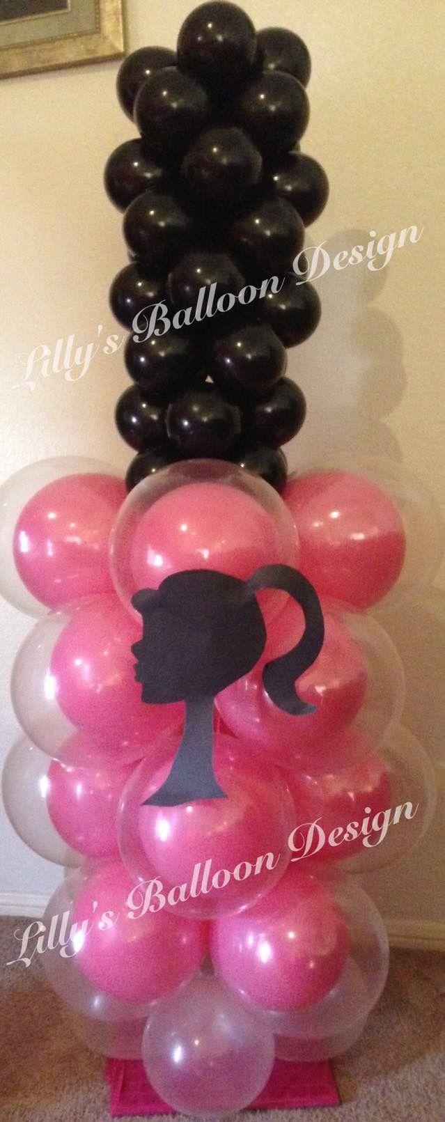 Barbie Nail polish balloon sculpture, birthday party balloons. Balloon barbie