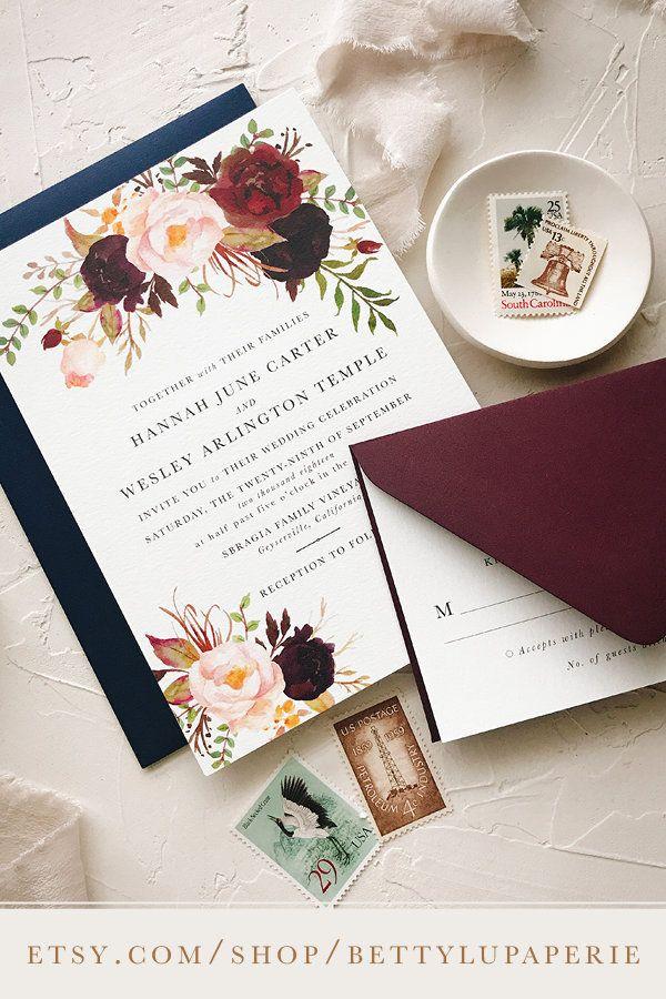 Bohemian Wedding Invitation Suite Boho Wedding Invite Boho Etsy Boho Chic Wedding Invitations Wedding Invitations Boho Bohemian Wedding Invitations
