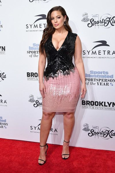 2016 Sports Illustrated Swimsuit Cover Model Ashley Graham attends the Sports Illustrated Sportsperson of the Year Ceremony 2016 at Barclays Center of Brooklyn on December 12, 2016 in New York City.