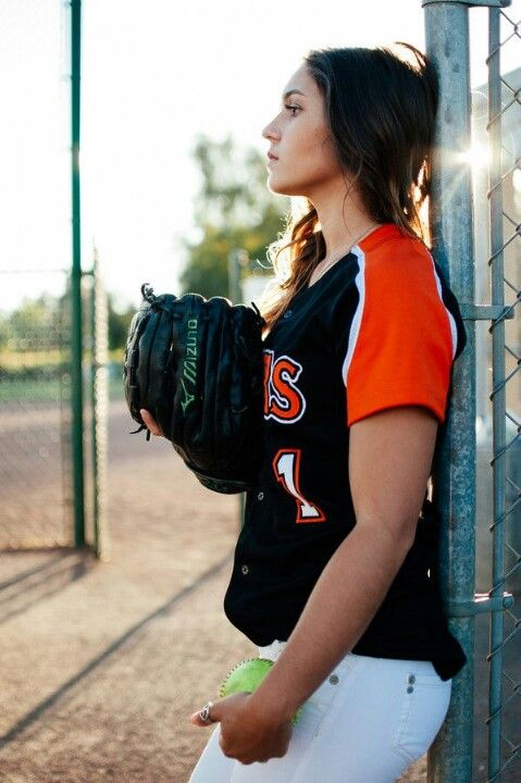 Cute no look softball picture