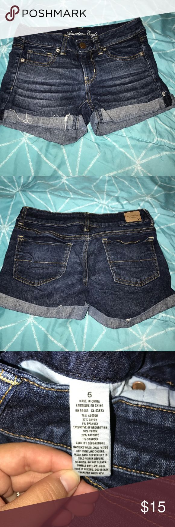 American Eagle Outfitters Shorts Dark blue jean shorts, brand new condition! American Eagle Outfitters Shorts Jean Shorts