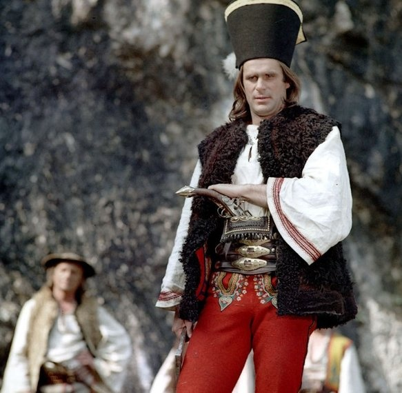 "Marek Perepeczko as ""Janosik"", a Polish TV series in 1974."