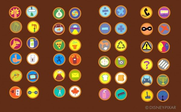 All the badges designed for Russell in the movie Up - Album on Imgur