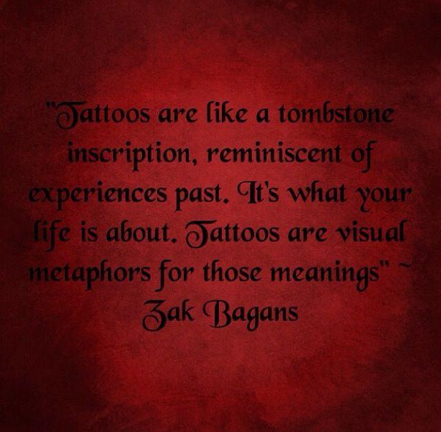 Tattoo quote. Zak Bagans