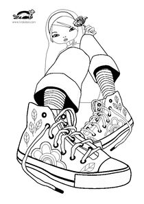 361 best ideas about Adult Colouring~Shoes~Feets~Hands ...