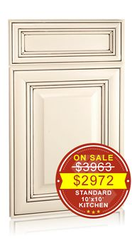 Springfield Maple Antique White Chocolate Glaze Discount Kitchen Cabinets