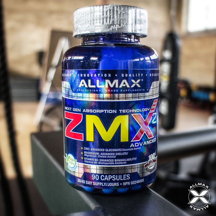 #ALLMAX has achieved maximum absorption levels with Next Generation ingredients like Chelated Magnesium, P5P (Vitamin B6 in the advanced Pyridoxal-5-Phosphate form) delivering 550%, and ionically-bound Zinc Gluconate at 200% within #ZMX2. #ZMX2 can be used by anyone wanting to gain lean muscle size and strength. Benefits of supplementing with ZMX2 include correcting low zinc and, or magnesium levels.