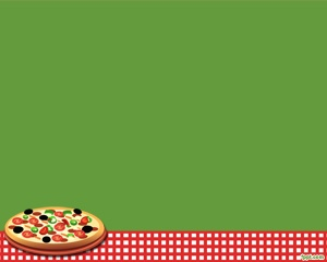 Free Pizza PowerPoint for food presentations and green ...