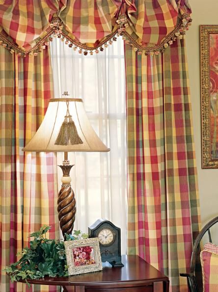 Elegant Plaid Curtains Elegant Plaid Curtain Country