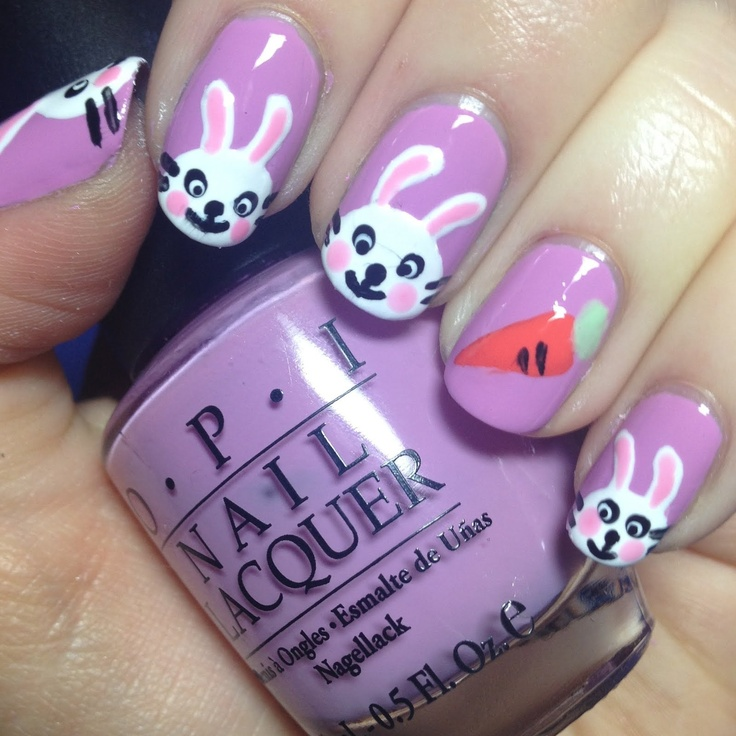 Easter bunny NailsNails Art Ideas, Cute Nails, Nails Design, Nails Trail, Easter Bunnies, Bunnies Nails, Nails Art Design, Easter Nails Art, Nails Tutorials