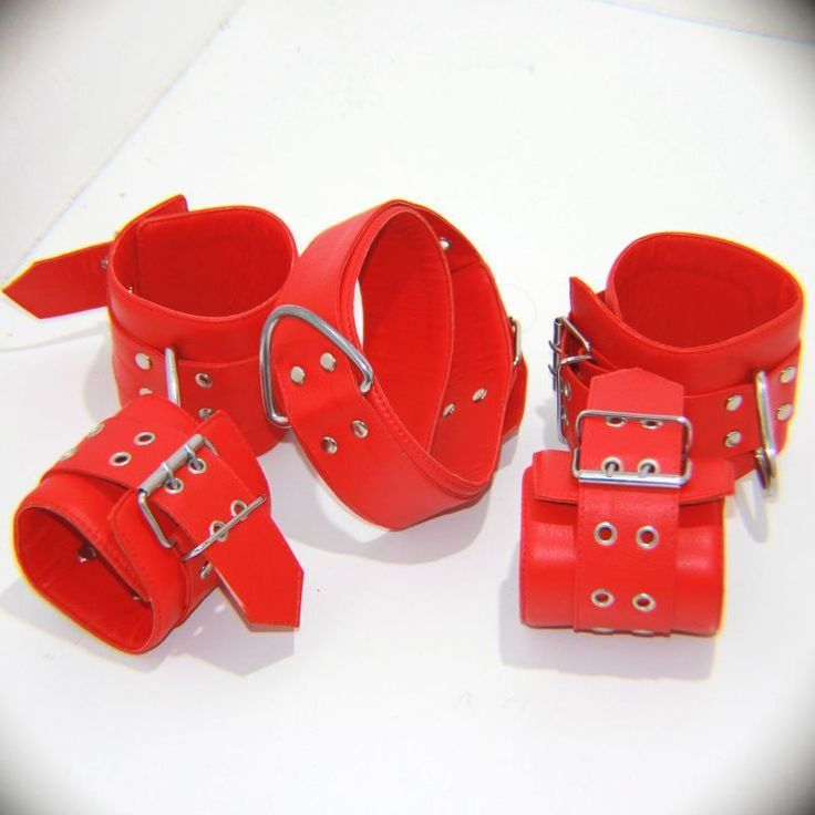 Wild Heavy Duty Collar with Ankle and Wrist Cuffs is a complete restraint set that has two eyelets, the sturdiness is guaranteed. Be the master of your animal and tame them! Available in Black and Red! Hells Couture Leather is guaranteed to be quality genuine leather which is handcrafted to make these quality accessories.