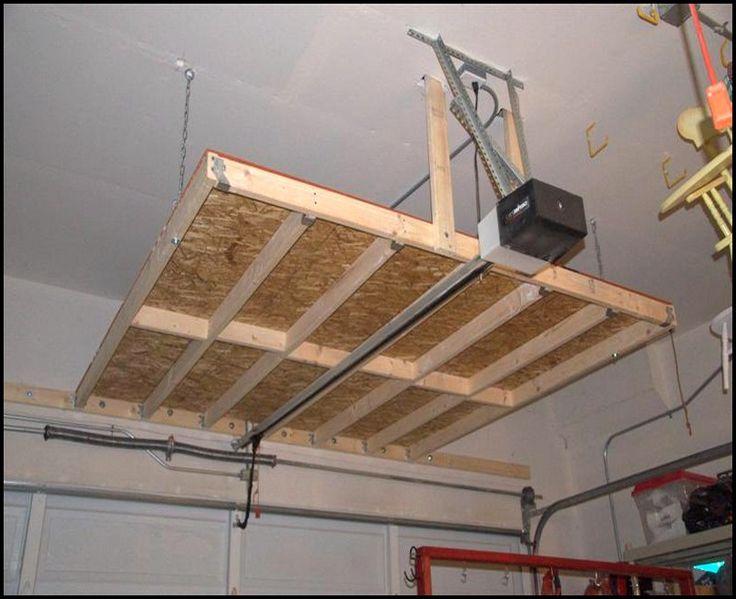 Best Garage Ceiling Storage Diy Diy Overhead Garage Storage 400 x 300