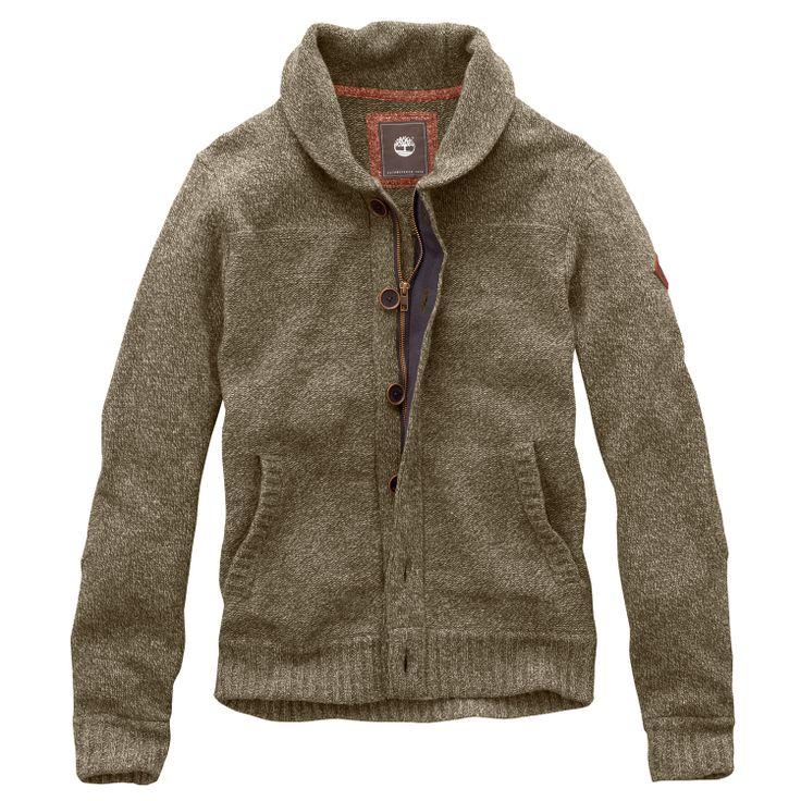 Timberland - Men's Lambswool Donegal Full-Zip Sweater