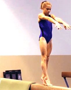 gif of Ragan Smith training a standing piked full | Cool Gymnastics Tricks | Gymnastics Stunts