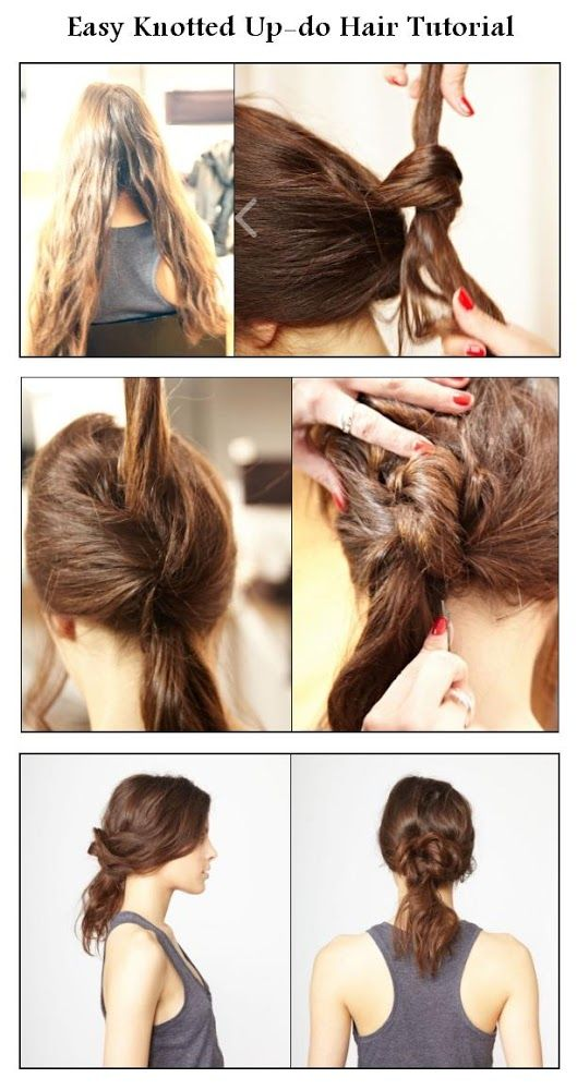 Easy Knotted Up-do Hair Tutorial | hairstyles tutorial