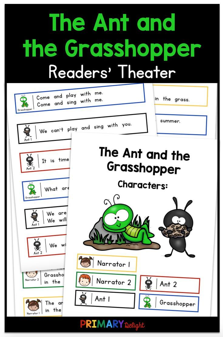 The Ant and the Grasshopper Readers' Theater: Use this fun readers' theater  script for guided reading when you study Aesop's fables or the importance  of ...