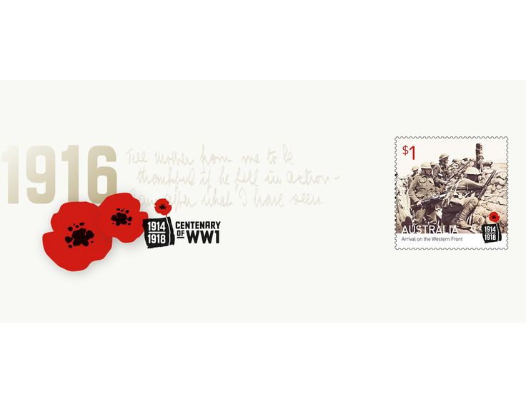 Commemorating the Australian troops' arrival at the Western Front http://auspo.st/1Xa60lS   #AustralianStamps #StampCollecting