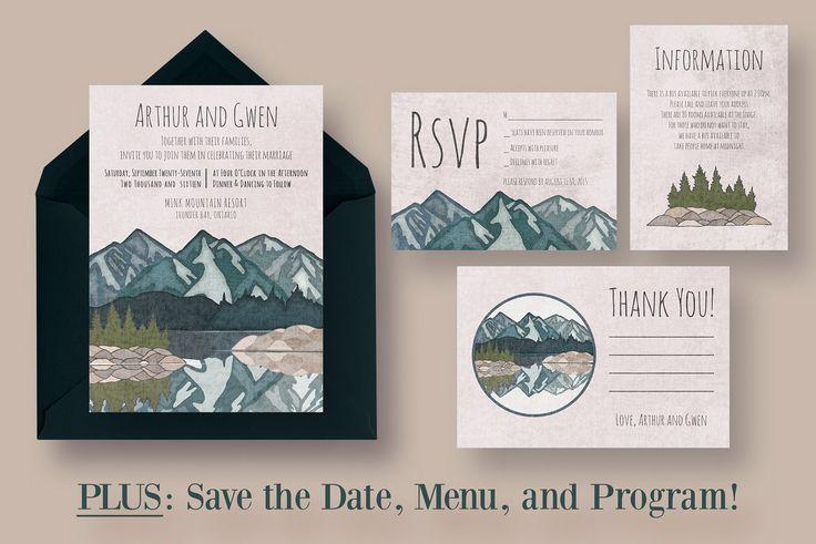 Mirror Lake Wedding Suite - Invitations