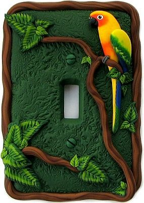Sandy's Creations in Clay: Unique Polymer Clay Light Switch Covers: